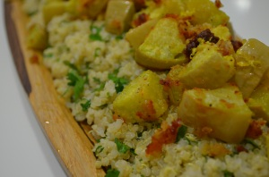 This roasted squash with quinoa can be a full meal or eaten as a side dish.