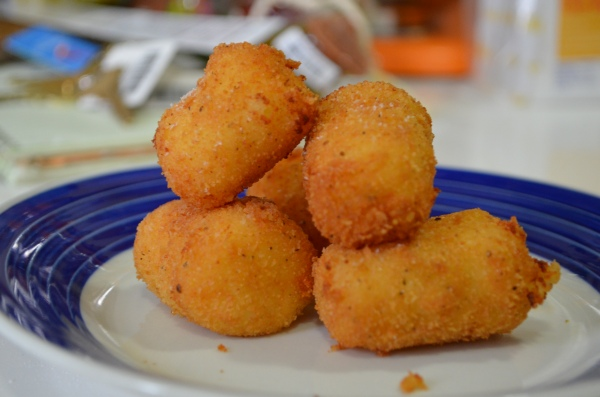 Fried mashed potatoes. Best. Snack. Ever.